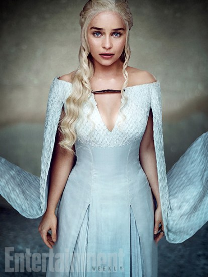 """Emilia Clarke as Daenerys Targaryen """"She's learning the last lesson she needs to learn,"""" says Clarke. """"There's just few remnants of being a human being she's shaking off."""" (Image Credit: MARC HOM for EW)"""