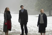 """DC's Legends of Tomorrow -- """"Left Behind"""" -- Image LGN109B_0026b.jpg -- Pictured (L-R): Ciara Renee as Kendra Saunders/Hawkgirl, Brandon Routh as Ray Palmer/Atom and Caity Lotz as Sara Lance/White Canary -- Photo: Diyah Pera/The CW -- © 2016 The CW Network, LLC. All Rights Reserved."""