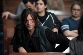 Norman Reedus as Daryl Dixon, Alanna Masterson as Tara Chambler, and Merritt Wever as Dr. Denise Cloyd - The Walking Dead _ Season 6, Episode 12 - Photo Credit: Gene Page/AMC
