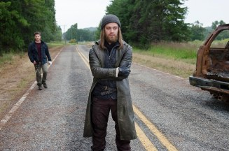 Tom Payne as Jesus and Jeremy Palko as Andy - The Walking Dead _ Season 6, Episode 12 - Photo Credit: Gene Page/AMC