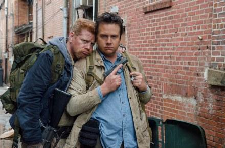 Michael Cudlitz as Abraham and Josh McDermitt as Dr. Eugene Porter - The Walking Dead _ Season 6, Episode 14 - Photo Credit: Gene Page/AMC