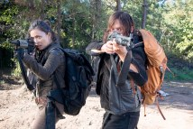 Christian Serratos as Rosita Espinosa and Norman Reedus as Daryl Dixon - The Walking Dead _ Season 6, Episode 14 - Photo Credit: Gene Page/AMC