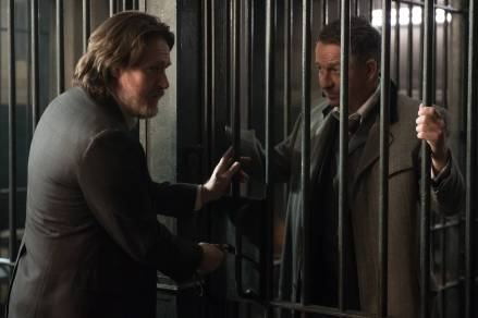 """GOTHAM: L-R: Donal Logue and Sean Pertwee in the """"Wrath of the Villains: Pinewood"""" episode of GOTHAM airing Monday, April, 18 (8:00-9:01 PM ET/PT) on FOX. ©2016 Fox Broadcasting Co. Cr: Jeff Neumann/FOX"""