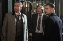 """GOTHAM: L-R: Sean Pertwee, Donal Logue and Ben McKenzie in the """"Wrath of the Villains: Pinewood"""" episode of GOTHAM airing Monday, April, 18 (8:00-9:01 PM ET/PT) on FOX. ©2016 Fox Broadcasting Co. Cr: Jeff Neumann/FOX"""