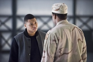 """DC's Legends of Tomorrow -- """"Last Refuge""""-- Image LGN112b_0413b.jpg -- Pictured: Franz Drameh as Jefferson """"Jax"""" Jackson -- Photo: Dean Buscher/The CW -- © 2016 The CW Network, LLC. All Rights Reserved."""