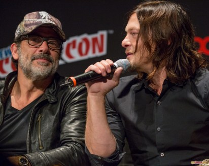 Pictured: Norman Reedus and Jeffrey Dean Morgan. © 2016 GiGi Carrascosa/We Geek Girls. All rights reserved.