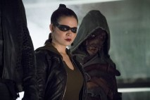 """Arrow -- """"So It Begins"""" -- Image AR506b_0083b.jpg -- Pictured (L-R): Madison McLaughlin as Evelyn Sharp/Artemis and Joe Dinicol as Rory Regan/Ragman -- Photo: Katie Yu/The CW -- © 2016 The CW Network, LLC. All Rights Reserved."""