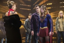 """Supergirl -- """"Supergirl Lives"""" -- Image SPG209b_0037.jpg -- Pictured: (L-R) Dichen Lachman as Roulette, Chris Wood as Mike/Mon-El and Melissa Benoist as Kara/Supergirl -- Photo: Robert Falconer/The CW -- © 2017 The CW Network, LLC. All Rights Reserved"""