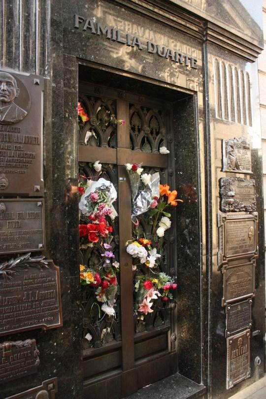Family Duarte's family mausoleum, where Eva Peron is buried.
