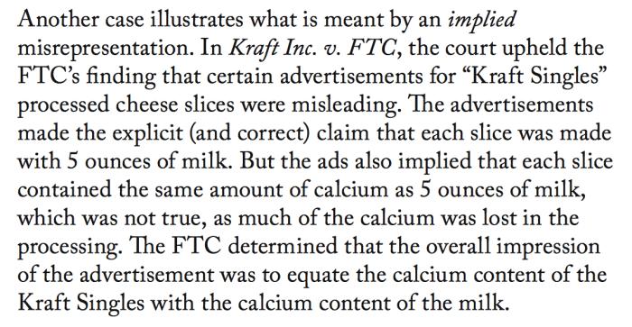 1992 Kraft FTC ruling