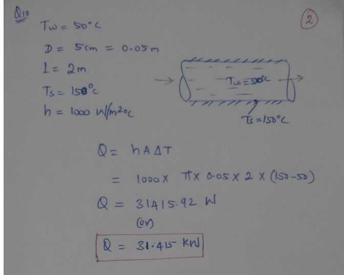 Q8/ Water at 20°C flows over a flat plate at 80°C. If the