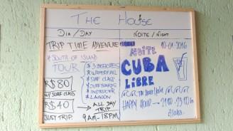 Tabla de actividades - Scheduled time