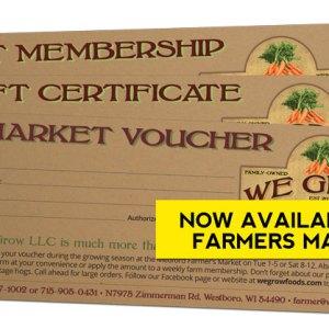 We Grow Gift Certificates