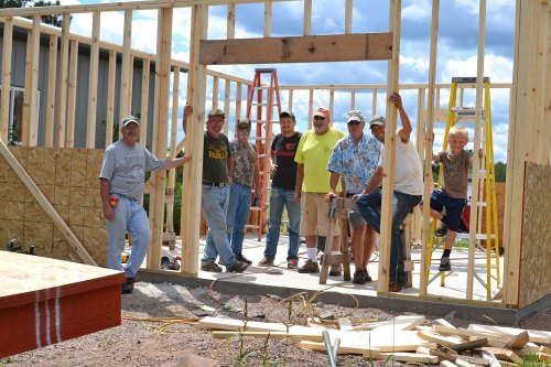 Working on pack shed at We Grow LLC