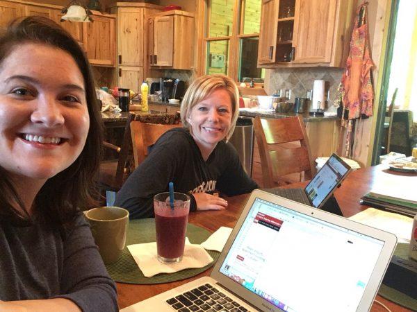 Colleen and Amanda