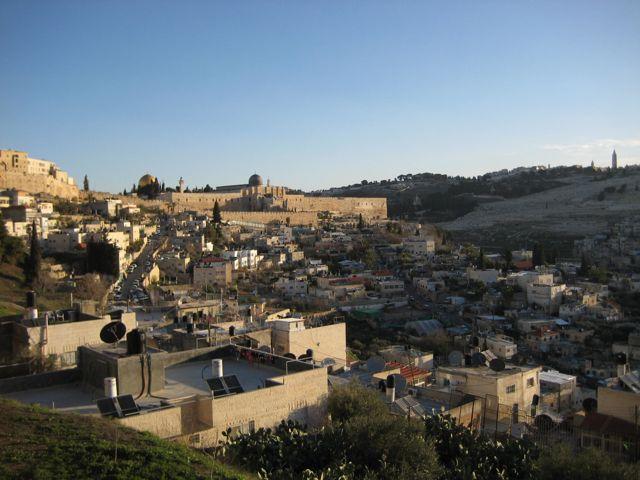 Blick vom Berg Zion auf den Tempelberg