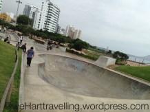 Cool swimming pool skate park