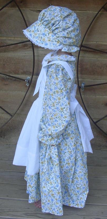 WeHaveCostumes Quality Homemade BlueYellow Pioneeer Girl Dress