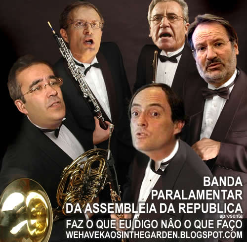 Alberto martins paulo rangel paulo Portas jeronimo sousa francisco Louça banda parlamentar