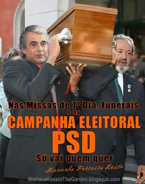Aguiar Branco pacheco Pereira funeral do PSD