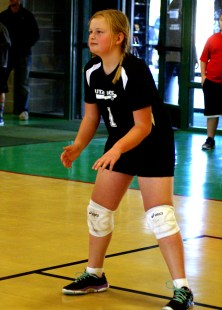 MissH, ready for bump, set or spike. My Volleyball queen.