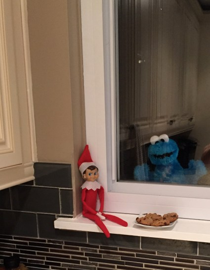 cookie monster elf on the shelf idea