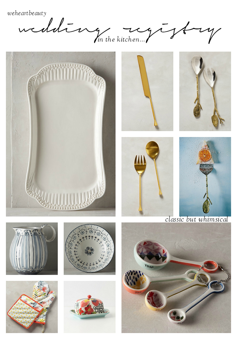 Wedding registry at anthropologie on weheartbeauty whb wedding registry kitch junglespirit Images