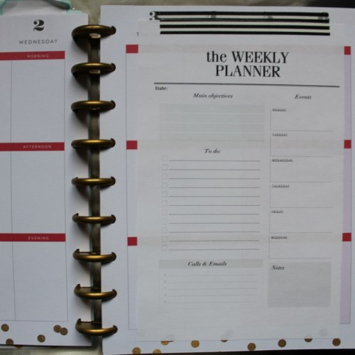 happy planner crossbow printables