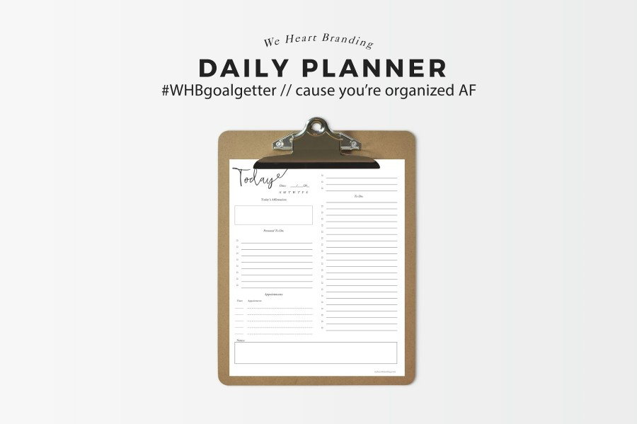free printable download undated daily planner list