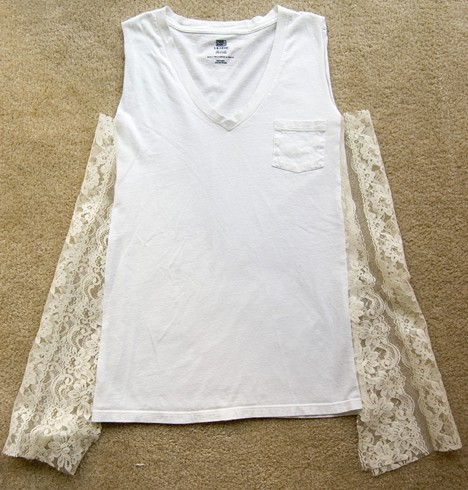 Diy Lace T 7 DIY: T shirt to Lacy Tank