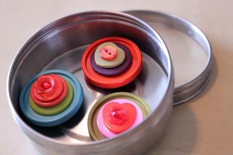 DIY Button 7 DIY: Cute as a Button Magnets