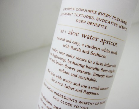 caldrea aloe water apricot