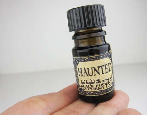 BPALamber3 BPAL Haunted oil and Amber & Patchouli Hair Gloss   review