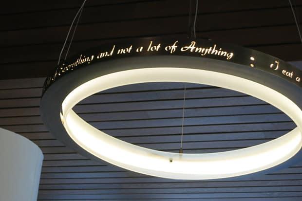 Giada restaurant lights Five Minutes with Giada De Laurentiis