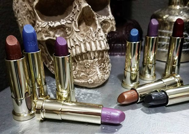 Urban Decay Vintage lipstick still life Urban Decay Vice Lipstick Vintage Capsule Collection swatches, review and looks