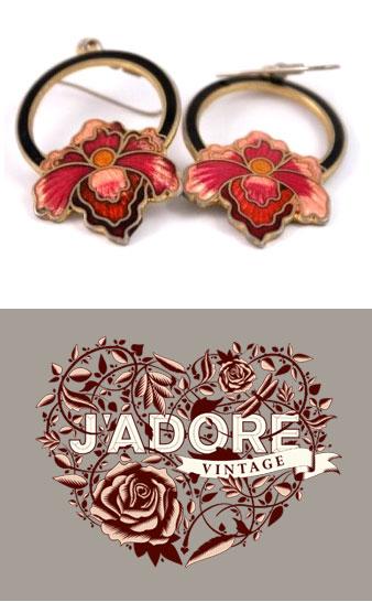Win vintage 1970s flower earrings