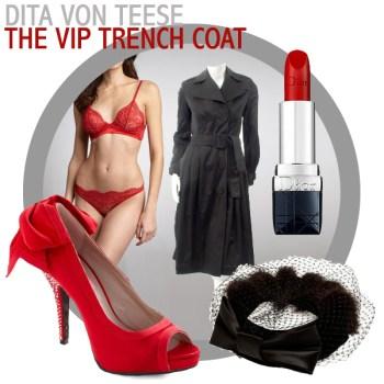 Vintage Lookbook: Dita Von Teese's VIP Trench Coat