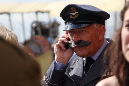 A magnificent moustache at Goodwood Revival 2012