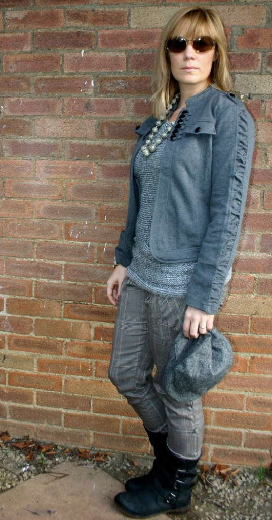Fashion blog outfit post: tweed