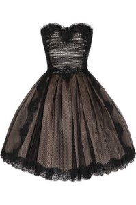 Strapless lace and tulle dress by Dolce & Gabbana