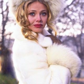 Britt Ekland looking a bit wierd, 1980s