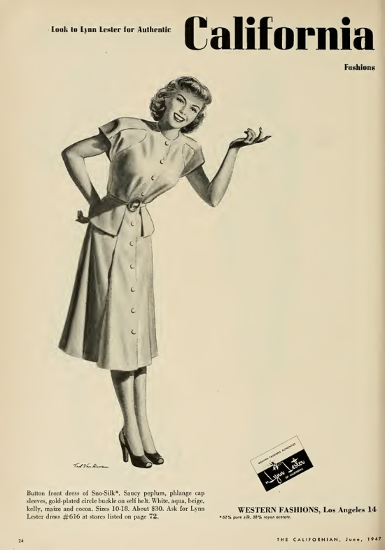 1940s fashion advert
