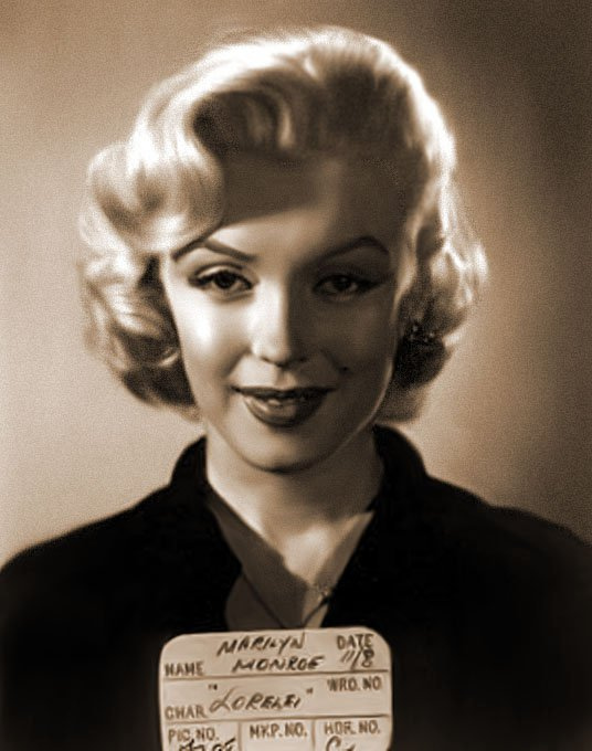 Marilyn Monroe's mugshot