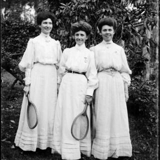 Vintage tennis fashions