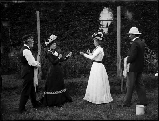 Vintage women boxing