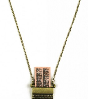 Win a cute vintage typewriter necklace