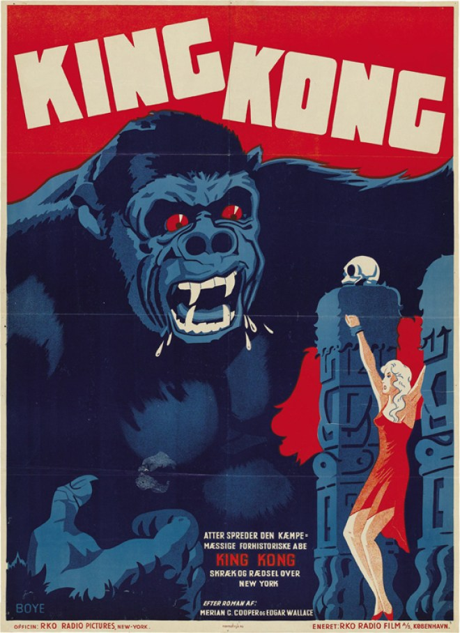 Vintage movie poster, King Kong