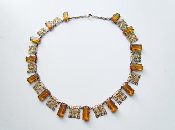 1920s art deco necklace