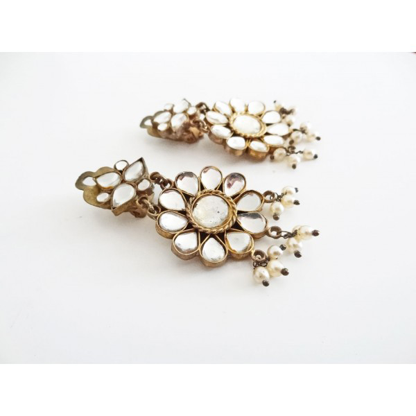 'Mirrors' vintage earrings