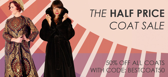 Half Price vintage coat sale